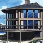 casa de playa con 3 pisos