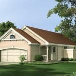 Planos de casa sencilla con 3 dormitorios grandes