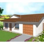 Plano de casa sencilla para terrenos pequeños