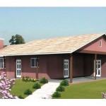 Plano de casa de un piso con garage techado