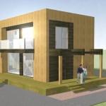 Planos de duplex moderno de 2 habitaciones