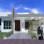 Planos de casa minimalista de un piso con 2 habitaciones