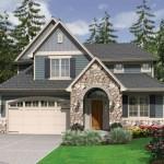 Planos de casa de 2 niveles con garage amplio