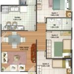 Plano de casa pequeña, económica y sencilla
