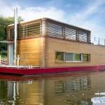 Fotos de casa/barco sobre el agua minimalista